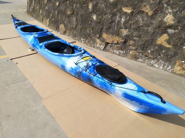 2er Tourenkajak Shark LSF-35 Blau Mix 1