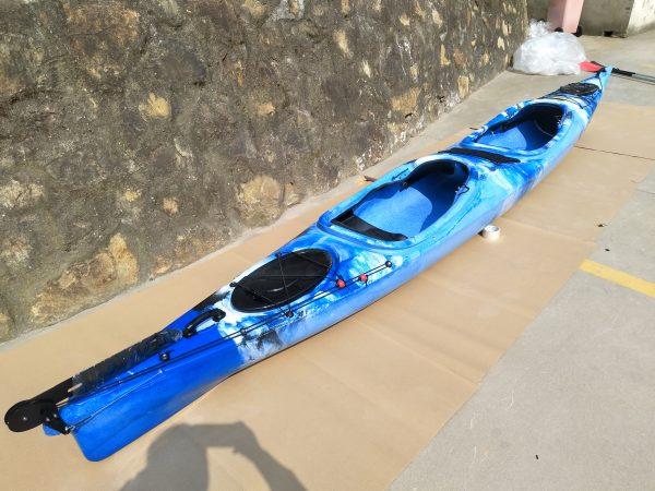 2er Tourenkajak Shark LSF-35 Blau Mix 5